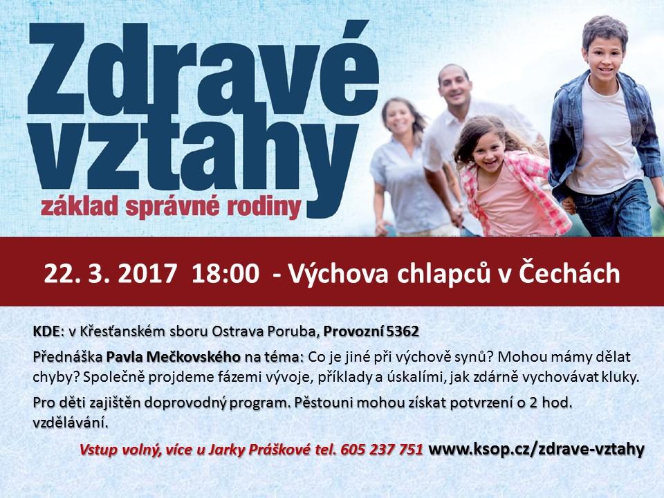 Výchova chlapců v Čechách 22.3.2017